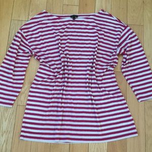 Talbots Pink Striped Top
